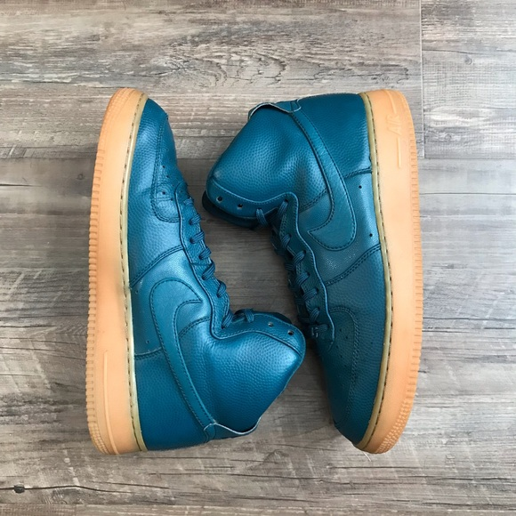 Midnight Turquoise Nike Air Force 1 High SE Shoes